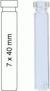 Vial N8-07, RR, k, 7x40, flach 0,7 mL Rollrandflasche N 8 Außendruchmesser: 7 mm, Außenhöhe: 40...