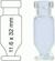 Vial N11-1.1, RR, k, 11,6x32, kon.+Fuß 1,1 mL Rollrandflasche N 11 Außendurchmesser: 11,6 mm,...