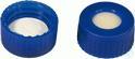 SKB N9-L, bl, Sil bg/PTFE w(-), 45°, 1,3 N 9 PP Schraubkappe (bonded), blau, Loch Silikon...