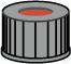SK N13-L, sw, RR or/FEP, 40°, 1,5 N 13 PP Schraubkappe, schwarz, Loch Red Rubber/FEP farblos...