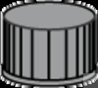 SK N13-kL, sw, RR or/FEP, 40°, 1,5 N 13 PP Schraubkappe, schwarz, geschlossen Red Rubber/FEP...