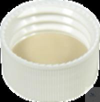 SKB N24-kL, w, Sil w/PTFE bg, 45°, 3,2 N 24 PP Schraubkappe (bonded), weiß, geschlossen Silikon...