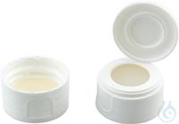 SCB N24-H/protcap,w,Sil nat/PTFE,45°,3.2 N 24 PP screw cap (bonded), white,...