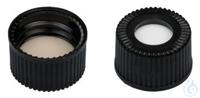 SCB N15-H, blk, Sil w/PTFE bg, 45°, 1.5 N 15 PP screw cap (bonded, 15-425),...