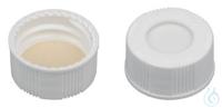 SCB N20H, w, Sil w/PTFE bg, 45°, 1.5 N 20 screw cap (bonded, 20-400), white,...