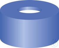 SR N11-H, bl, Sil w/PTFE r, 45°, 1.0 N 11 PE snap ring cap, blue, center hole Silicone white/PTFE...