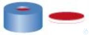 SR N11-L, bl, PTFEr/Sil w/PTFEr, 50° 1,0 N 11 PE Schnappringkappe, blau, Loch PTFE rot/Silikon...
