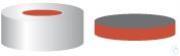 BK N20-L, si, But r/PTFE gr, 50°, 3,0 N 20 Aluminium Bördelkappe, silber, Loch Butyl rot/PTFE...