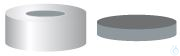 CC N20-H, si, Mld. But/PTFE gr, 50°, 3.0 N 20 Aluminium crimp cap, silver,...