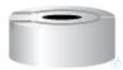 ÜK N20-L, si N 20 Aluminium Überdruck-Sicherheitskappe, silber, Loch Packung à 100 St.