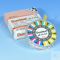 DUOTEST pH 3,5-6,8, roul. 5mx10mm DUOTEST pH 3,5 - 6,8 rouleau de 5 m longueur, largeur 10 mm...