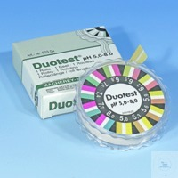 DUOTEST pH 5,0-8,0, roul. 5mx10mm DUOTEST pH 5,0 - 8,0 rouleau de 5 m longueur, largeur 10 mm...