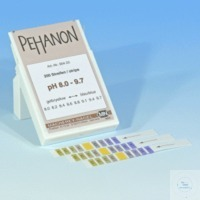 PEHANON pH 8,0-9,7, bte de 200 lang. PEHANON pH 8,0 - 9,7 boîte de 200 languettes 11 x 100 mm...