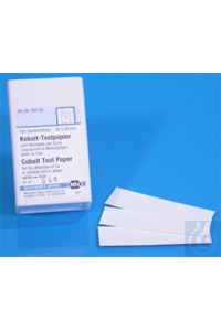 Cobalt test paper Cobalt test paper test strips 20 x 70 mm sufficient for 100...