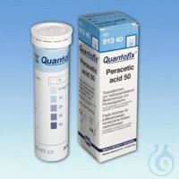 QUANTOFIX Peracetic acid 50 QUANTOFIX Peracetic acid 50 test strips 6 x 95 mm...