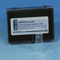 NANO Quartz glass cuvette, opt. path.: 2 Quartz glass cuvette, 2 mm optical path, for NANOCOLOR®...