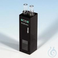 NANO flow cell f. VIS, OG, 10 mm Flow cuvette, glass, 10 mm optical path, for...