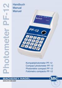 Photometer PF-12 manual Photometer PF-12 Manual
