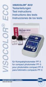"""VISO ECO test instructions for PF-3 VISOCOLOR brochure """"VISOCOLOR ECO Test..."""