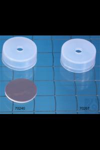 PE-Cap N20-DIN-H tr, Bu/PTFE 55° 1.3 na N 20 PE Cap for crimp neck vials with...