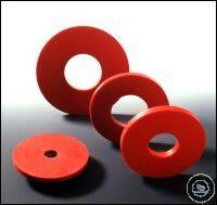 Filterformscheibe Innendurchmesser 12, Außendurchmesser 45 mm Naturkautschuk (NR),  rot, Härte...