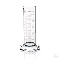 Cylinder Graduated, low form hexagonal base, class B white, 5ml, 10/PK...