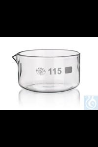 SIMAX-Kristallisierschale, mit Ausguss, Durchm. 80mm, 10St.  Erzeugnisse aus...
