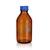Laborgewindeflasche GL45, mit PP-Kappe und Ring (blau), braun, 100ml, 10St....