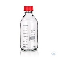 Reagent Bottle GL45, with PP-Cap and Ring (red), clear, 100ml, 10/PK Reagent...