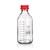 Laborgewindeflasche GL45, mit PP-Kappe und Ring (rot), klar, 100ml, 10St....