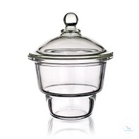 Desiccator with Glass knob lid, 100mm DIN Desiccator with Glass knob lid,...