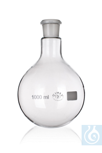 Flask with round bottom, with SJ 14/23, 50ml, 10/PK Flask with round bottom,...