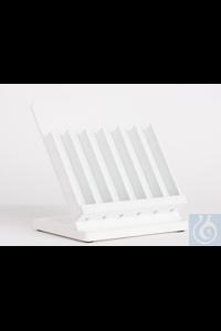 Aräometergestell Massiv-PVC  zur praktischen Aufbewahrung von Aräometern, aus...