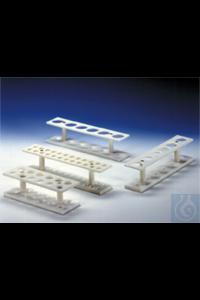 Zentrifugenglasgestell/PP für 24 Gläser, 15 ml, 2-reihig, weiß  aus PP weiß, massiv, beste...