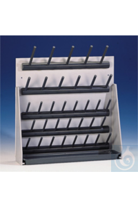 2Articles like: Draining rack 34 pegs, 5 peg rows, (WxH) 430x410 mm  made of solid PVC, base...