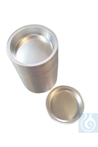 Aluminium dishes, 28 ml, h 13mm, diam 64/51mm, round, 100 pcs., VGKL number:...