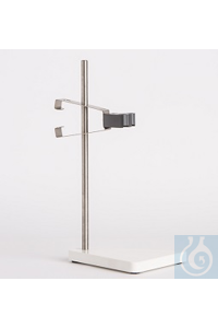 Electrode Stand, solid PVC white, rod height 300mm, incl. Electrode clamp...