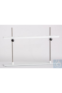 Filtration Rack, for 6 Funnels, Basic Plate, 800x150mm, bores 60mm diam., solid PVC  made of...