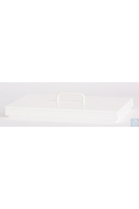 Flat lid PP white, with handle, for E12 Flat lid PP white, with handle, for E12
