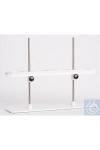 Rack for sedimentation cones for 4 cones, acc. to IMHOFF, base size 650x150mm, made of solid PVC...