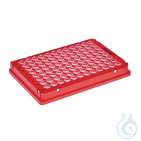 25 PCR plate 96,rot skirted Eppendorf twin.tec® PCR Plate 96, skirted, 150 µL, PCR clean, rot, 25...