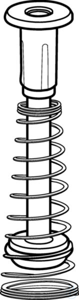 Piston 1000ul with seal and spring Piston 1000ul with seal and spring