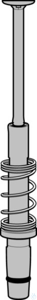 Replacement channel 300 µL, color code: orange, for multi- channel 30-300 µL...