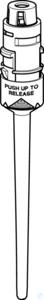 Pipette lower part, single- channel 5 mL, purple, adjustable: 0.5 - 5 mL...