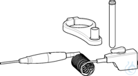 Flexible discharge tube with recirculation valve, coiled from PTFE, approx....