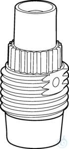 Discharge valve for 25mL, 50mL or 100mL Varispenser 2(x) made of PFA,...