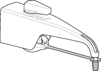 Discharge tube for Varispenser 2x with nominal volume of 2mL, 5mL, or 10mL...