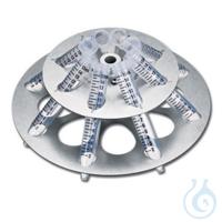 Rotor F-45-8-17 für 8 Gefäße à 15 ml für Concentrator  Rotoren für...