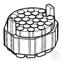 Adapter for 16x75-100mm round- bottom tubes, for S-4xUniversal rotor, set...