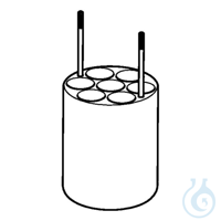 Adapter for 7 x Ø17.5mm dish- bottomed vessels, for FA-6x250 rotor, 2 pcs....